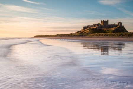 Bamburgh Castle from the Sea