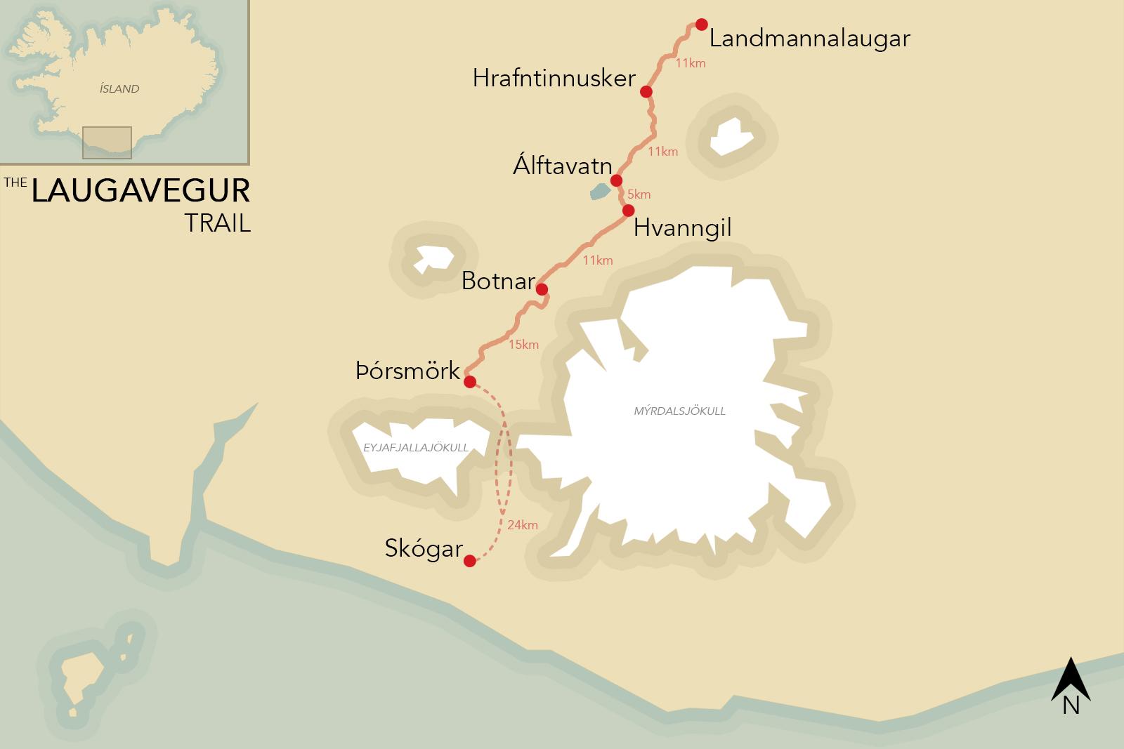 laugavegur-trail-map