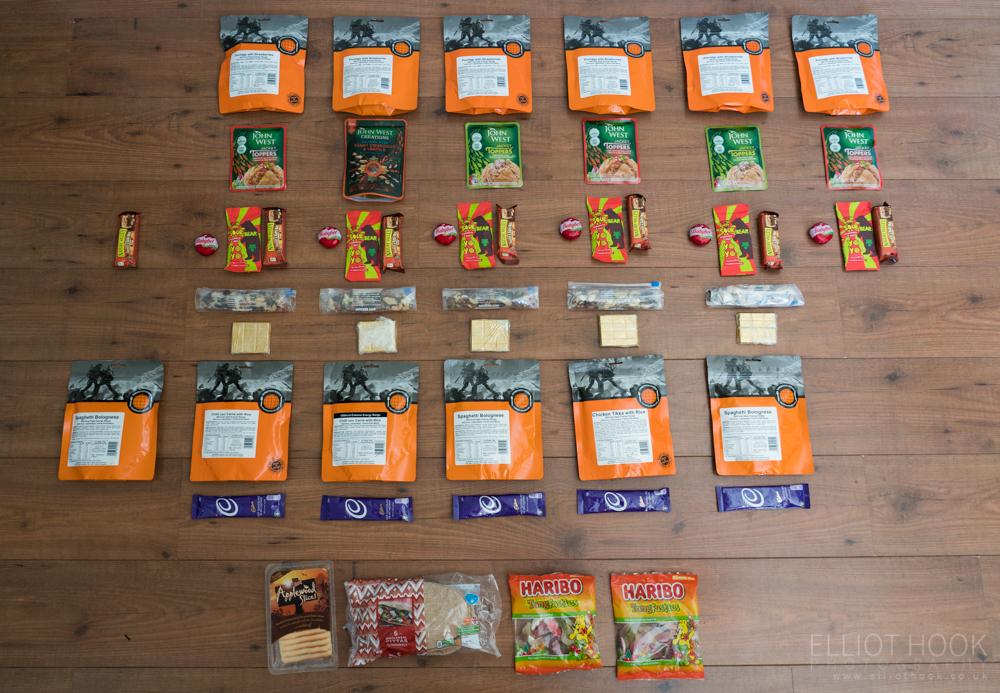 Laugavegur Packing Food