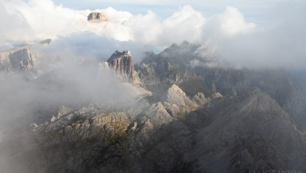 The view from Lagazuoi through the cloud