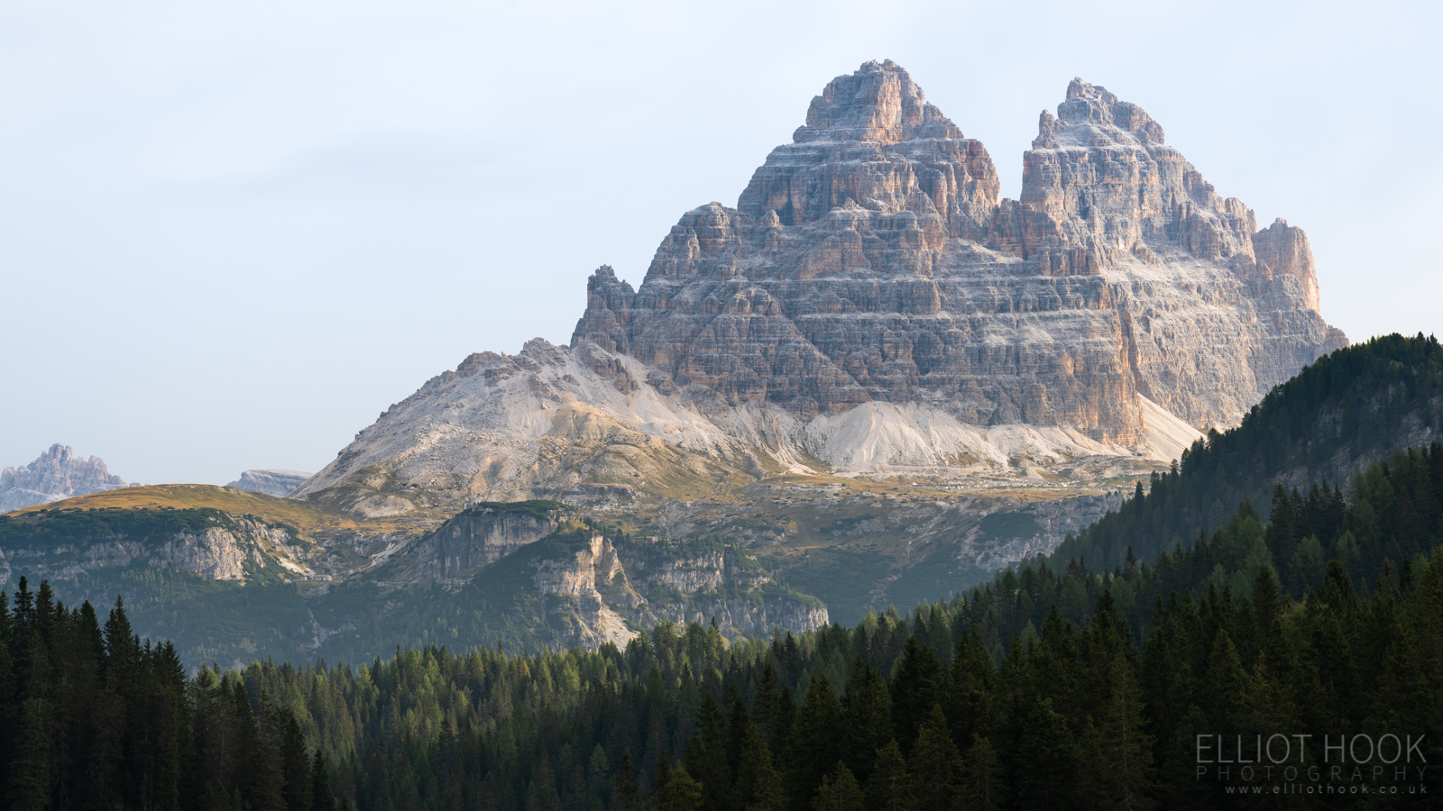 Tre Cime from the shore of Lago Di Misurina