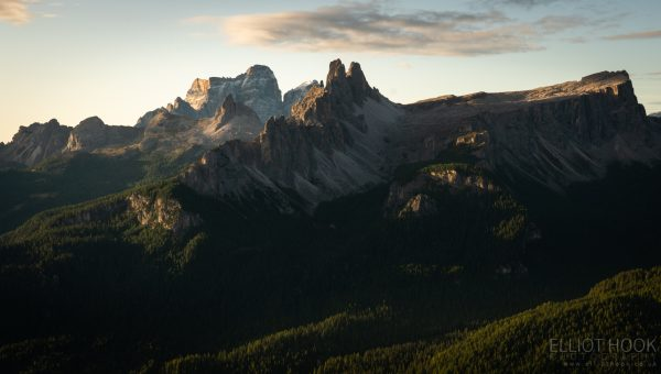 The view from Rifugio Pomedes in the Dolomites