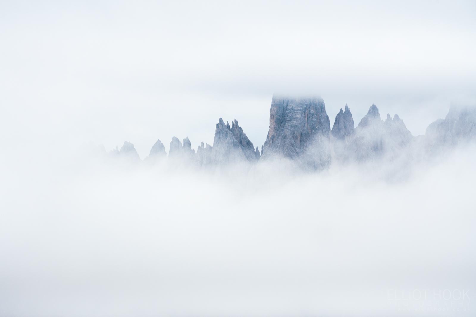Dolomites - Cima Cadin di San Lucano in low cloud