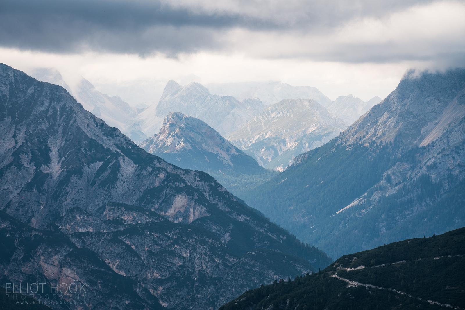 Dolomites Tre Cime Valley View