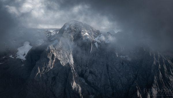 Gran Vernal from Piz Boe in the Dolomites