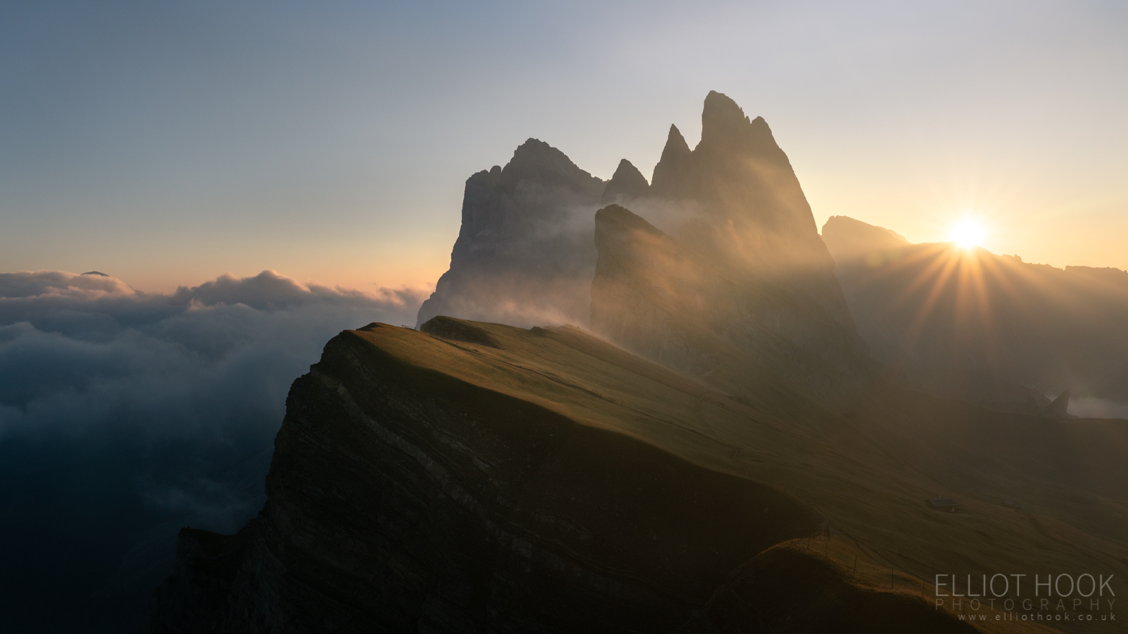 Seceda Sunrise, Dolomites