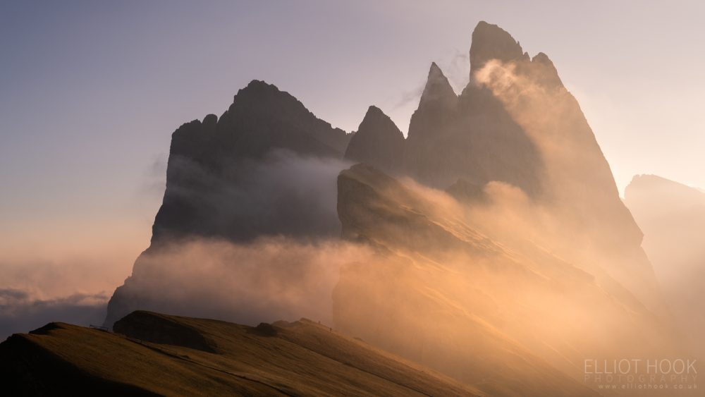 Seceda at sunrise, Dolomites