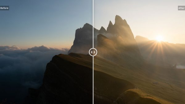 Behind the image Seceda Sunrise